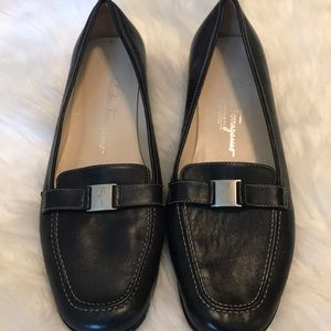 Ferragamo Black loafers EUC